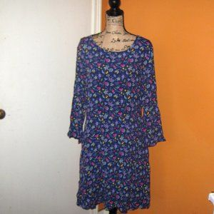 Gap Fit and Flare Floral Print 16 Tall Dre…